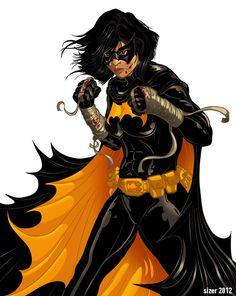 Black Bat (Cassandra Cain) by Paul Sizer Dc Comics Art, Batman Comics, Comics Girls, Dc Batgirl, Batwoman, Batgirl Cassandra Cain, Hq Dc, I Am Batman, Batman Art