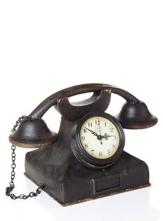 Black Telephone Clock