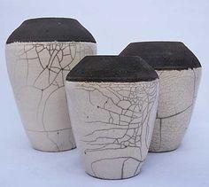"Vase ""Épure"" - poterie raku blanc"