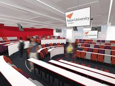 Proposed in the round lecture theatre at Aston University