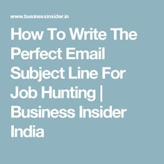 email resume subject line