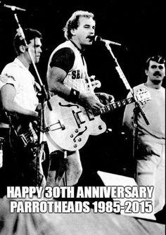 June 28, 1985... The term Parrothead became official in Cincinnati