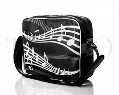 Pánská taška přes rameno - Music, černá Gym Bag, Backpacks, Bags, Fashion, Musik, Handbags, Moda, Fashion Styles, Backpack