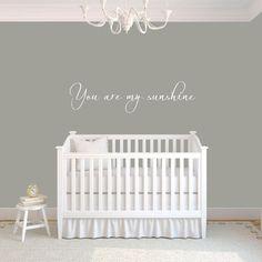 Nursery Decal - You Are My Sunshine - Nursery Wall Decal - -Nursery Decor- Nursery Art- Nursery Wall Decals on Etsy, $12.50