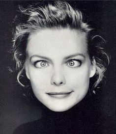 Portrait of Michelle Pfeiffer by Terry O'Neill, 1988 Michelle Pfeiffer, Silly Faces, Funny Faces, Tv Movie, Cara Delevingne, Famous Faces, Celebrity Photos, American Actress, Movie Stars