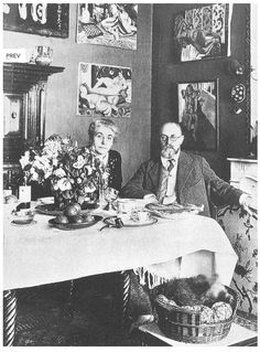 Matisse and Madame Matisse in the dining room of the fourth-floor appartment at no. 1 Place Charles-Felix, Nice, c, 1929.