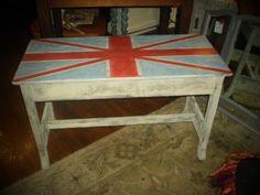 Vintage Union Jack Piano Bench $80 - Bowmanville http://furnishly.com/catalog/product/view/id/3319/s/vintage-union-jack-piano-bench/