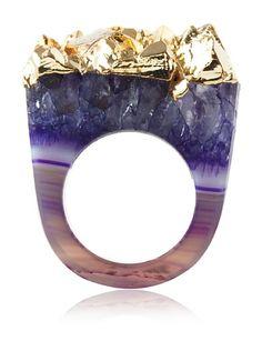 Dara Ettinger Jill Purple Agate Geode Ring