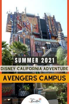 Avengers Campus, a new Marvel-themed Land will be opening to guests on June 4th, 2021 at Disney California Adventure park! Find out everything we know so far, including WEBSLINGERS Spider-Man attraction, brand new character experiences, dining, shopping and more. Get the details on whether this area will be kid-friendly and if you should catch up on all the Marvel movies to fully appreciate Avengers Campus. #Disneyland #Disney #DisneyTips #California #AvengersCampus #FamilyTravel #Marvel Disneyland Resort California, Disney California Adventure Park, Disneyland Vacation, Disney Vacation Club, Disney Travel, Vacation Resorts, Disney Cruise Line, Family Adventure, Disney Vacations
