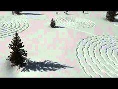Cerchi nella neve - Snow drawing by Sonja Hinrichsen