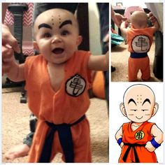 9 Super Cute Kids in Dragon Ball Z Cosplay: Totally Adorable Baby Cosplaying as Krillin from Dragon Ball Z!