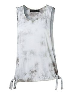 DREAM SUPPLY - Women's Side Open Tank Top, Crystal Wash Tank Top