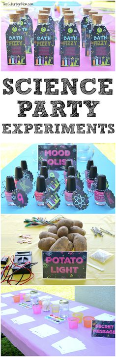 Kids Science Party Experiments
