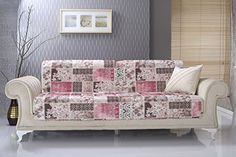 Amazon.com: Chiara Rose Anti-slip Armless 1- Piece Sofa Shield Futon Couch Pet Cover Furniture Protector Ottoman Rose Turquoise: Home & Kitchen
