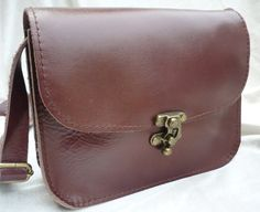 Small Leather Cross Body Bag, Shoulder Bag, Leather Bag Purse, Leather Satchel, Leather Purse on Etsy, $43.00