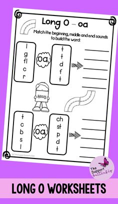 These long vowel worksheets are just what you need for you Kindergarten or First Grade students! These no prep worksheets are perfect for Literacy lessons, Literacy centers or word work. Are you teaching your class about long o sounds - long oa, long oe, long ow and long o with magic e? These printables will be easy to implement and engaging during your spelling or reading lessons. These ready to go worksheets are accessible to all students and are easy to implement. Phonics Sounds, Vowel Sounds, Long Vowel Worksheets, Long Vowels, Reading Lessons, Word Work, Literacy Centers, Spelling, Kindergarten