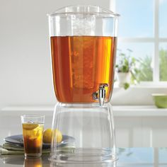 Amazon.com | 3 Gallon Premium Quality Plastic Beverage Dispenser with Ice Core and Stand: Iced Beverage Dispensers