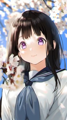 Anime Girl Cute, Beautiful Anime Girl, Kawaii Anime Girl, Cute Anime Couples, Anime Art Girl, Anime Love, Manga Art, Hyouka Chitanda, Cool Anime Wallpapers