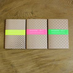 Set Of Three Silver Notebook/Travel Journal