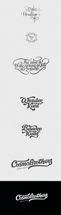 Nice hand drawn logo's