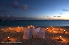 evening beach dining at cap juluca anguilla british west indies #GOWSRedesign