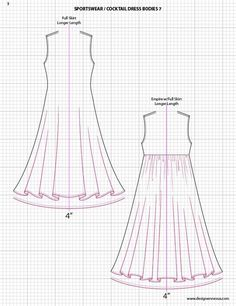 Adobe Illustrator Fashion Sketch Templates -  dress sketches.   $49.95 - over 1300 mix-&-match garment elements #flatsketch #fashionsketch #fashiondesign