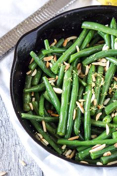 Brown Butter Green Beans with Slivered Almonds | Recipe Runner