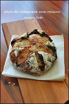 French Sourdough with Wine-Soaked Raisins.