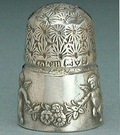 RARE Antique English Sterling Silver Cupid Thimble by Charles Horner 1906 HLMK | eBay