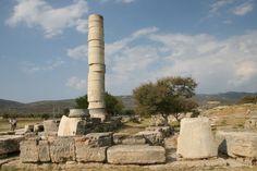 Tempio ionico di Era; 570-560 a.C. Isola di Samo-Grecia-Egeo orientale.