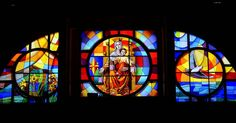 #Vitral de la #Catedral de #Huacho  #HuachoMilenario #stainedglass #smokeglass #art #colors #colorful #religion #Catholic #Virgin #Jesus #contrast #church #nstagood #instacute #nikon #hello #blessed by misabelg1
