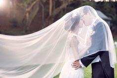 Soft drop veil//clear edge wedding veil//bridal by Shmilyaccessory
