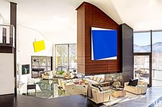 An ordinary Aspen chalet is transformed into the ultimate art-world party pad