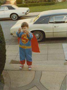 Lemony Snicket/Daniel Handler as Superman  age 5 or 6  San Francisco