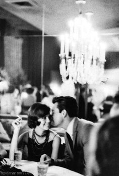 Natalie Wood and Robert Wagner at a Hollywood party, 1960.