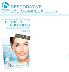http://innovativeskincare.com/sample2.php  Free Restorative Eye Cream sample: Get a free Restorative Eye Complex sample from Innovative Skincare    How to get it: To request yours, go to the Innovative Skincare website and fill out a short form. Hurry, supplies are limited and running out fast!