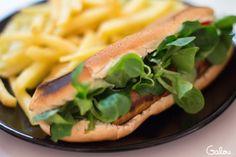Vegan hot-dogs by Galou & Emilia.  With avocado sauce.