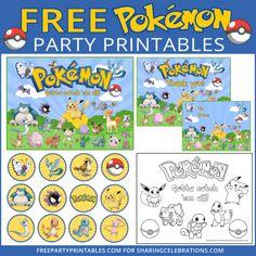 Free Pokemon Party Printables                                                                                                                                                                                 Más
