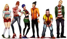 All Grown Up: Ed, Edd, n Eddy!FINALLY FINISHED! THE WHOLE CUL DE SAC!!!  (L-R: Jonny 2x4 (w/ Plank), Nazz, Kevin, May, Lee, Marie, Ed, Edd, Eddy, Sarah, Jimmy, and Rolf)See more All Grown Up d...