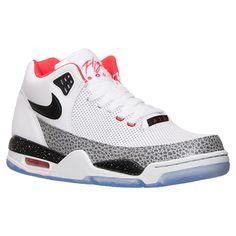 size 40 ceef4 b594c Men s Nike Flight Squad QS Basketball Shoes   Finish Line   White Black Wolf