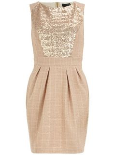 Dorothy Perkins  Gold sequin insert dress