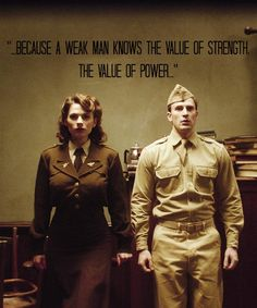 Captain America The First Avenger: Peggy Carter and Steve Rogers The Avengers, Female Avengers, Dc Movies, Marvel Movies, Capitan America Chris Evans, Captain America Peggy Carter, Hayley Atwell Captain America, Iron Man, Die Rächer