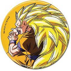 Dragon Ball Z 1.25'' Button - Super Saiyan 3 Goku