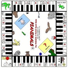 Pianimals game - an enjoyable way to help students learn the music symbols and rhythms as they compete to be the first one to the Fine.