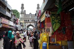 Hyderabad's 400-year-old Old City buzzes with overwhelming street noise and huge crowds.