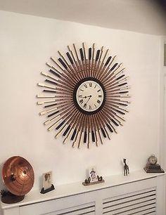 Repurposed Piano Key Clock