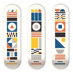 Jorge Primo: Louw Skateboards Bauhaus serie.