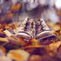 """""""Old Times"""" by Healzo.deviantart.com on @deviantART  #old #times #magic #place #autumn #shoes #leaves"""