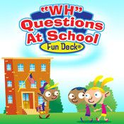 """""""WH"""" Questions at School Fun Deck. Repinned by SOS Inc. Resources @sostherapy."""