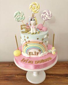 "#unicorncake ❤️ . . . . . . . . . #unicorn #unicorncake #unicornpasta…"" My Little Pony Unicorn, Corn Pasta, Birthday Cake, Desserts, Instagram, Food, Tailgate Desserts, Deserts, Birthday Cakes"